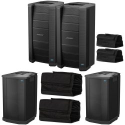 Full Bose F1 System, 2 Bose F1 Model 812, 2 Bose F1 Subwoofers & Bose Travel Bags